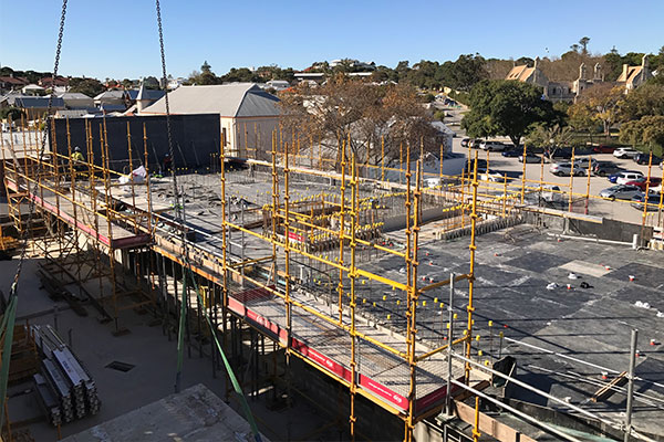 Fineform Concrete LIV Apartments, concrete supply, pumping and formwork, Fremantle